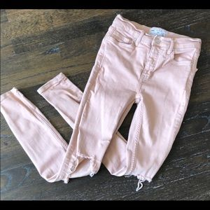 Light pink free people jeans